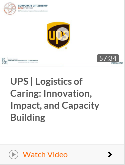 UPS | Logistics of Caring: Innovation, Impact, and Capacity Building