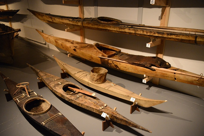 Traditional Greenlandic kayaks were critical to Inuit hunts.
