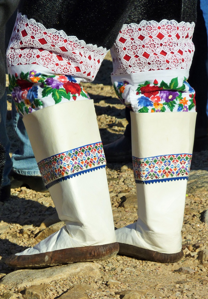 Traditional Thule boots in Greenland.