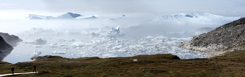 Ilulissat, Greenland offers spectacular Arctic landscapes for visitors and photographers.