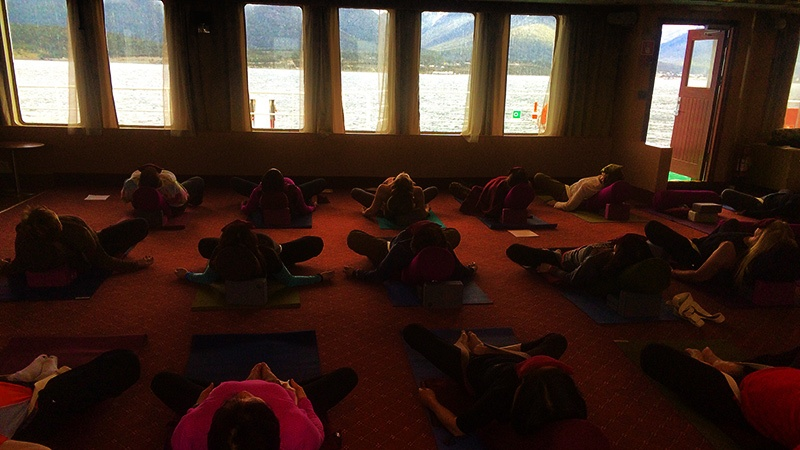 The rhythms of the ocean make onboard yoga a whole new experience, even for seasoned participants.