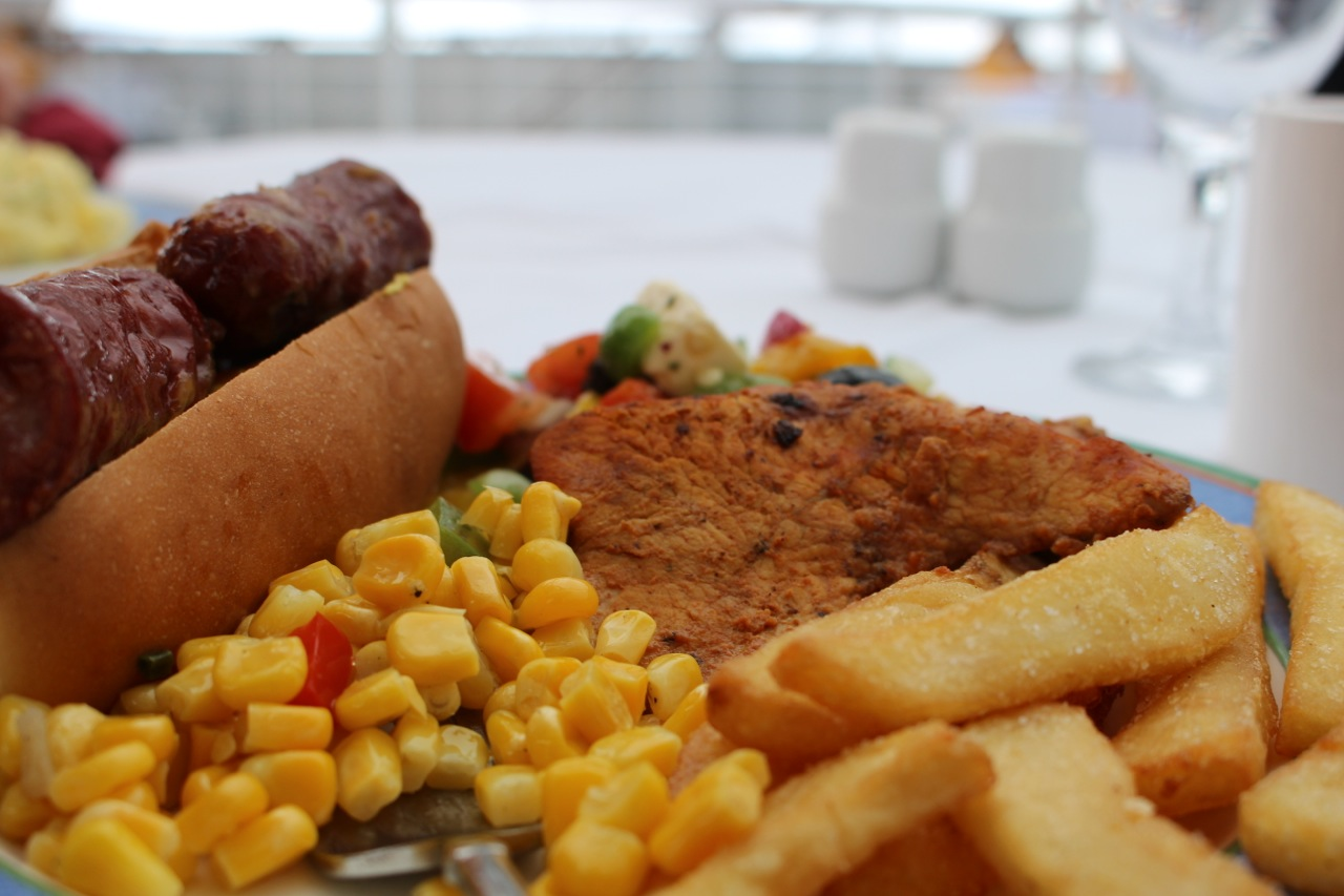 BBQ lunch on deck in Antarctica (Ocean Diamond).