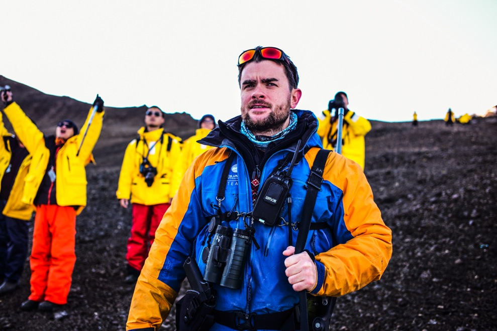 Expedition Leader Hadleigh Measham plans activities, Zodiac cruises and landings at the most interesting, exciting destinations accessible at any given time throughout the expedition.