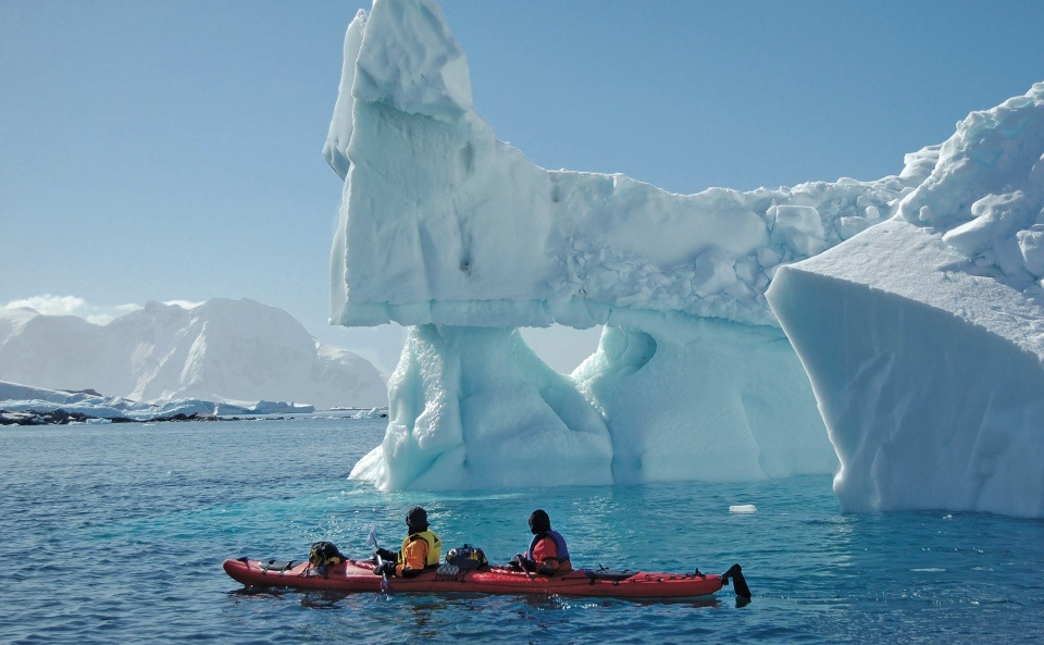 Kayaking in Greenland. Photo: Keith Perry