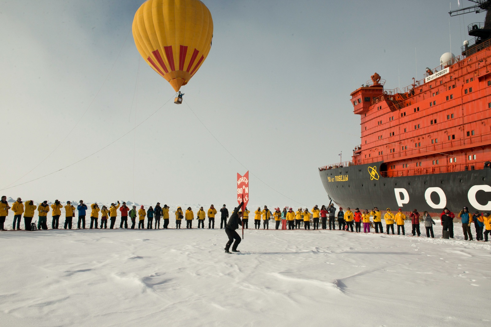 Celebrate reaching the North Pole with a hot air balloon ride (optional extra).