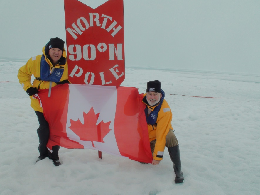 Canadian flag at North Pole