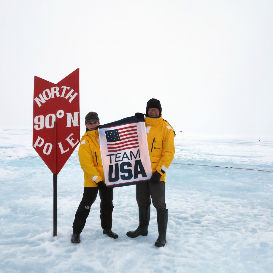 USA flag at North Pole