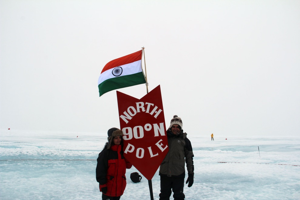 India flag at North Pole