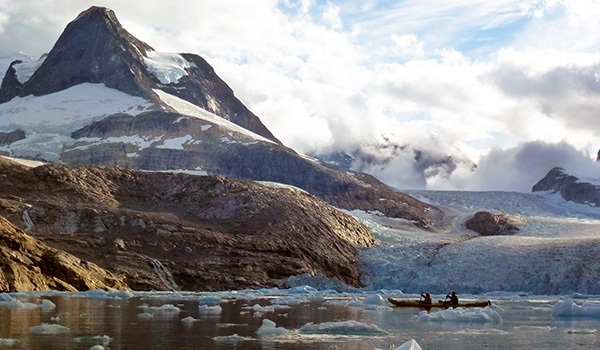 Sea Kayakers in Greenland