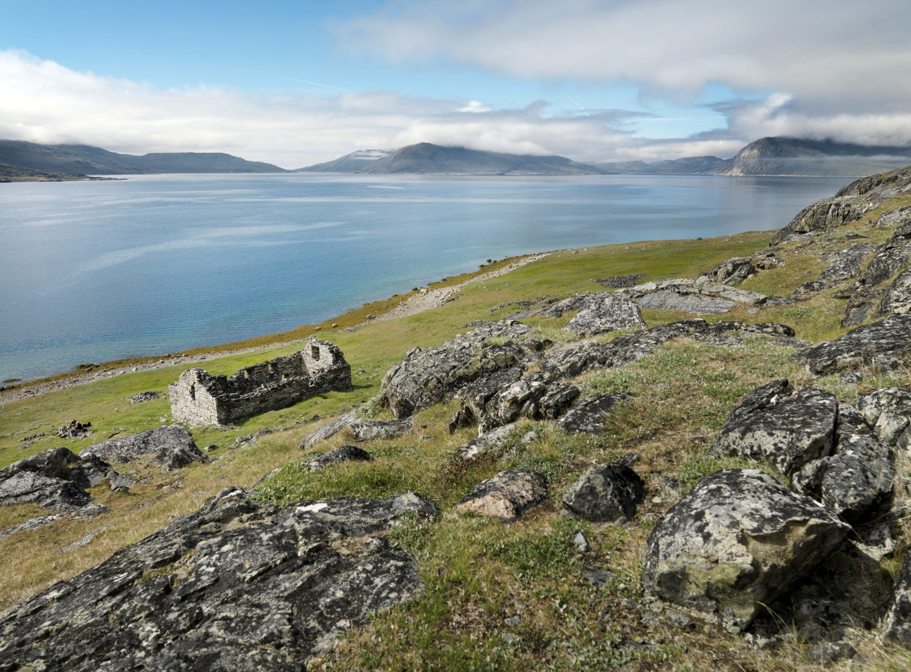 Hvalsey in South Greenland, the site of Greenland's largest and best preserved Norse ruins