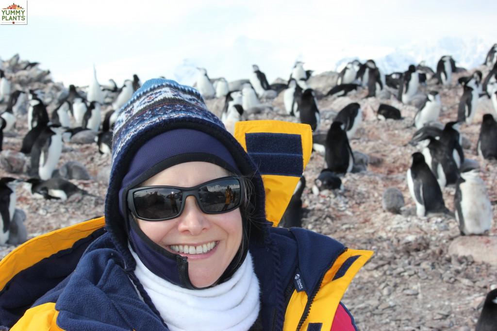 Rebecca Gilbert self portrait in Antarctica