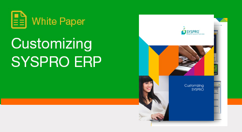 Customizing SYSPRO ERP