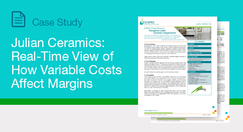 Julian Ceramics: Real-Time View of How Variable Costs Affect Margins