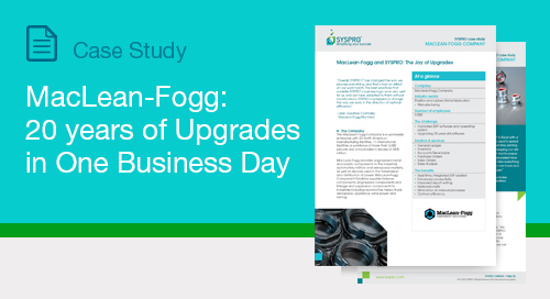 MacLean-Fogg: 20 Years of Upgrades in One Business Day