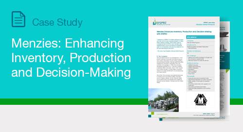 Menzies: Enhancing Inventory, Production and Decision-Making