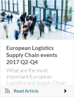 European Logistics Supply Chain events 2017 Q2-Q4