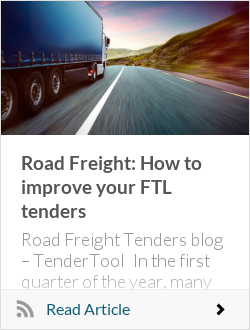 Road Freight: How to improve your FTL tendertool.ahabr.techs