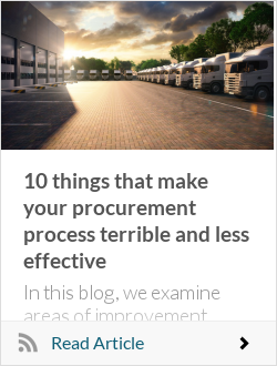 10 things that make your procurement process terrible and less effective