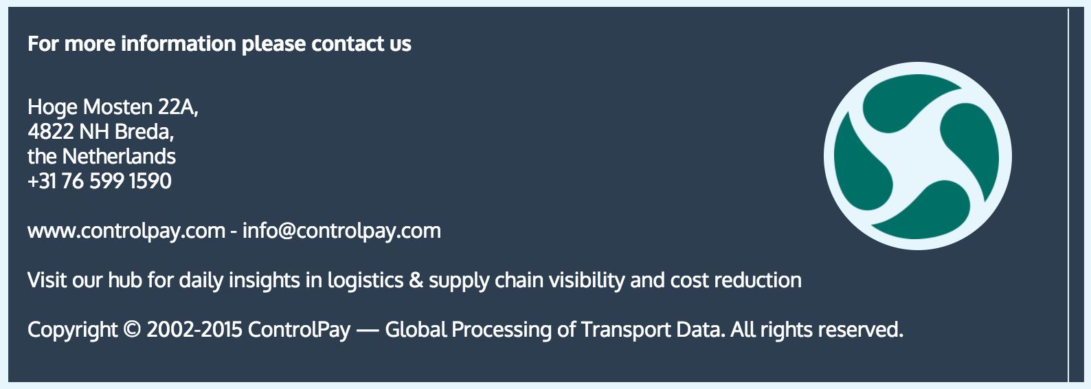 freight auditing. ControlPay