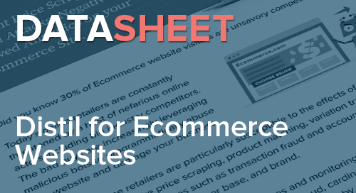 Distil Networks for Ecommerce Websites | Data Sheet
