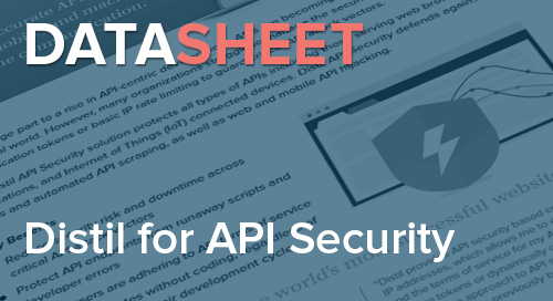 Distil Networks for API Security | Data Sheet