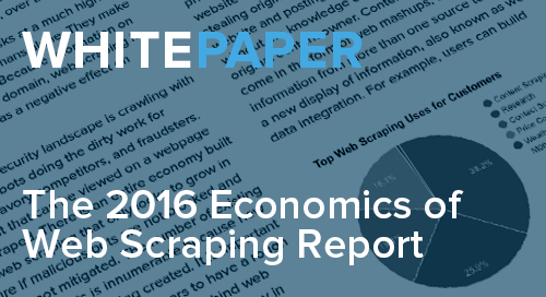 2016 Economics of Web Scraping Report