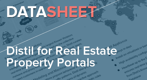 Distil Networks for Real Estate Property Portals | Data Sheet