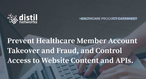 Distil for Healthcare Websites | Data Sheet