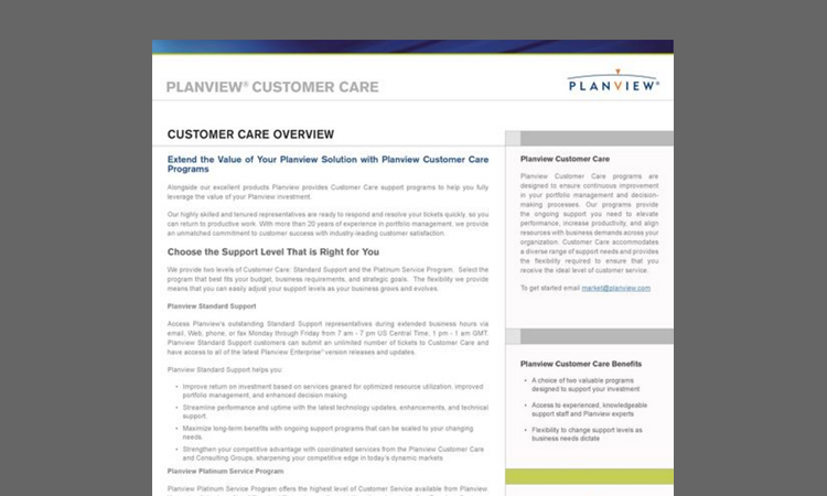 Planview Customer Care