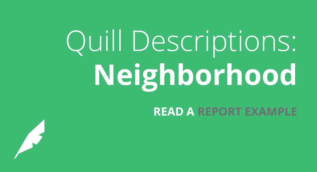 Descriptions: Neighborhood