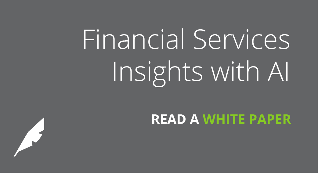 AI Brings Real World Insight to Financial Services
