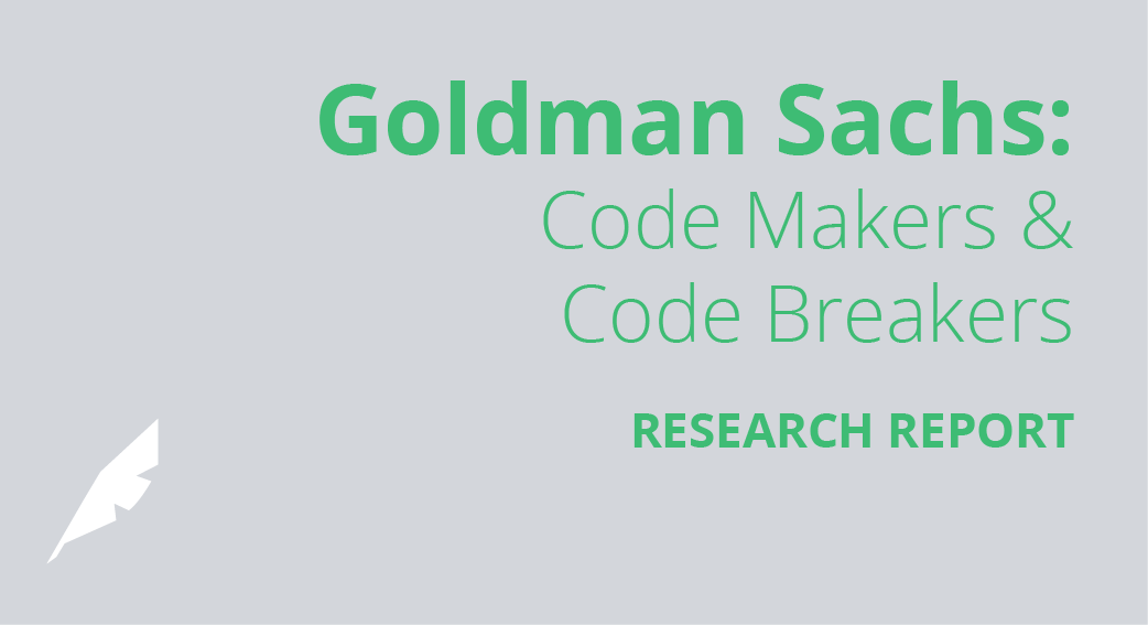 Goldman Sachs: Code Makers and Code Breakers
