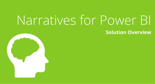 Narratives for Power BI Solution Overview