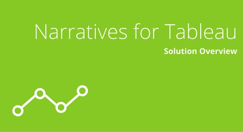 Narratives for Tableau Solution Overview