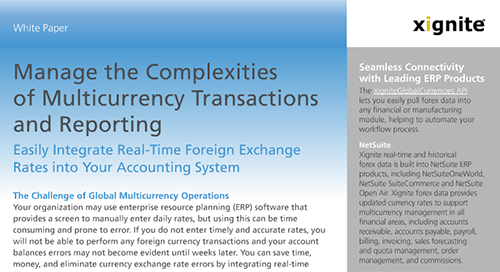 Manage the Complexities of Multicurrency Transactions and Reporting