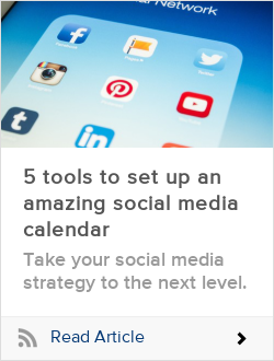 5 tools to set up an amazing social media calendar