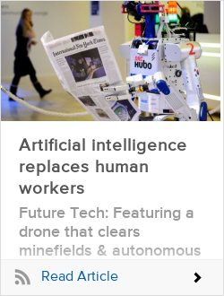 Artificial intelligence replaces human workers