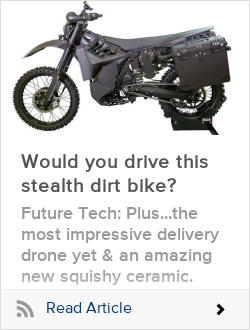 Would you drive this stealth dirt bike?