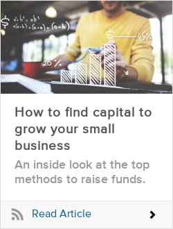 How to find capital to grow your small business