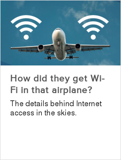 How did they get Wi-Fi in that airplane?