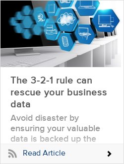 The 3-2-1 rule can rescue your business data