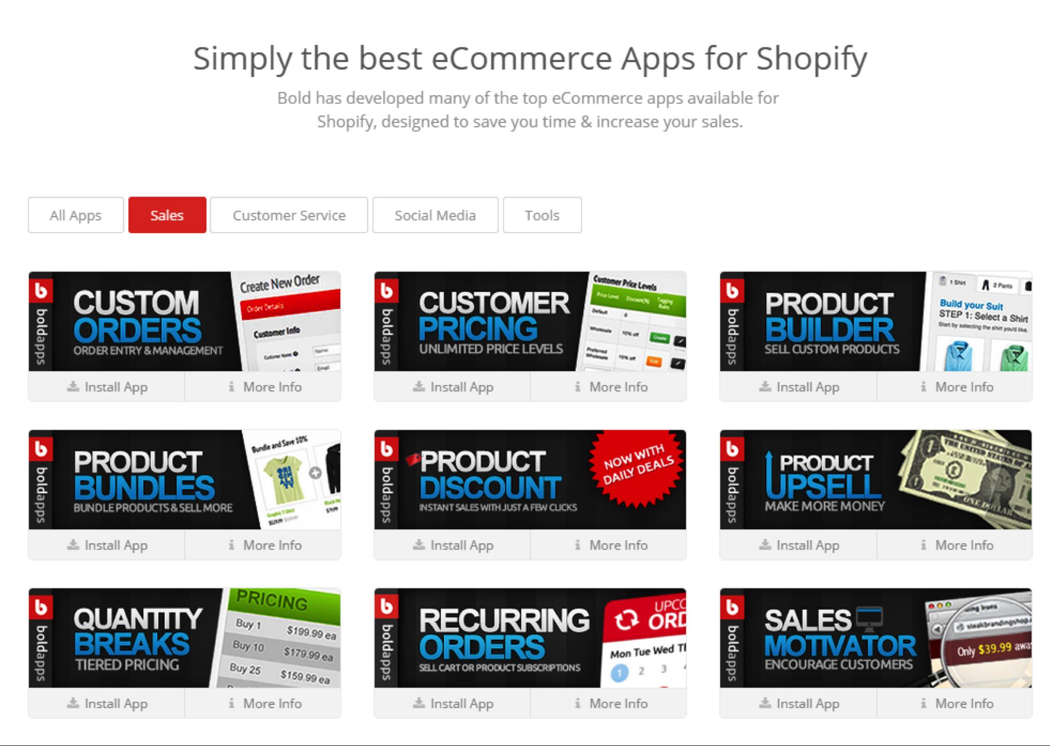 BOLD eCommerce App Shopify