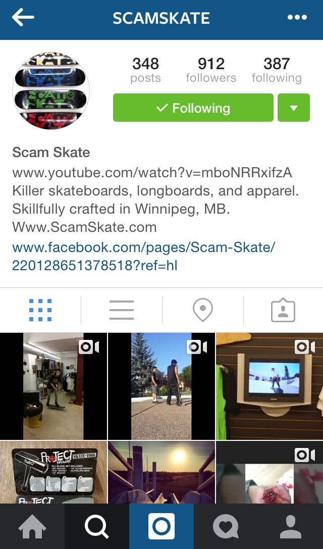 Scam Skate Winnipeg Instagram