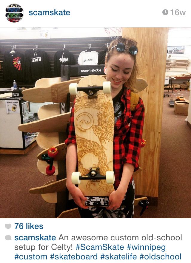 Scam Skate custom board