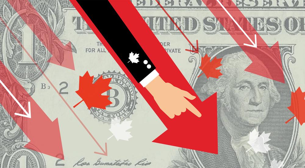 Falling Canadian Dollar
