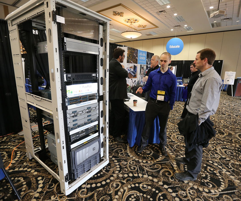 The Solutions Showcase, featuring 35 vendor exhibitors, at EPIC Tech Day at the Victoria Inn Hotel & Convention Centre.
