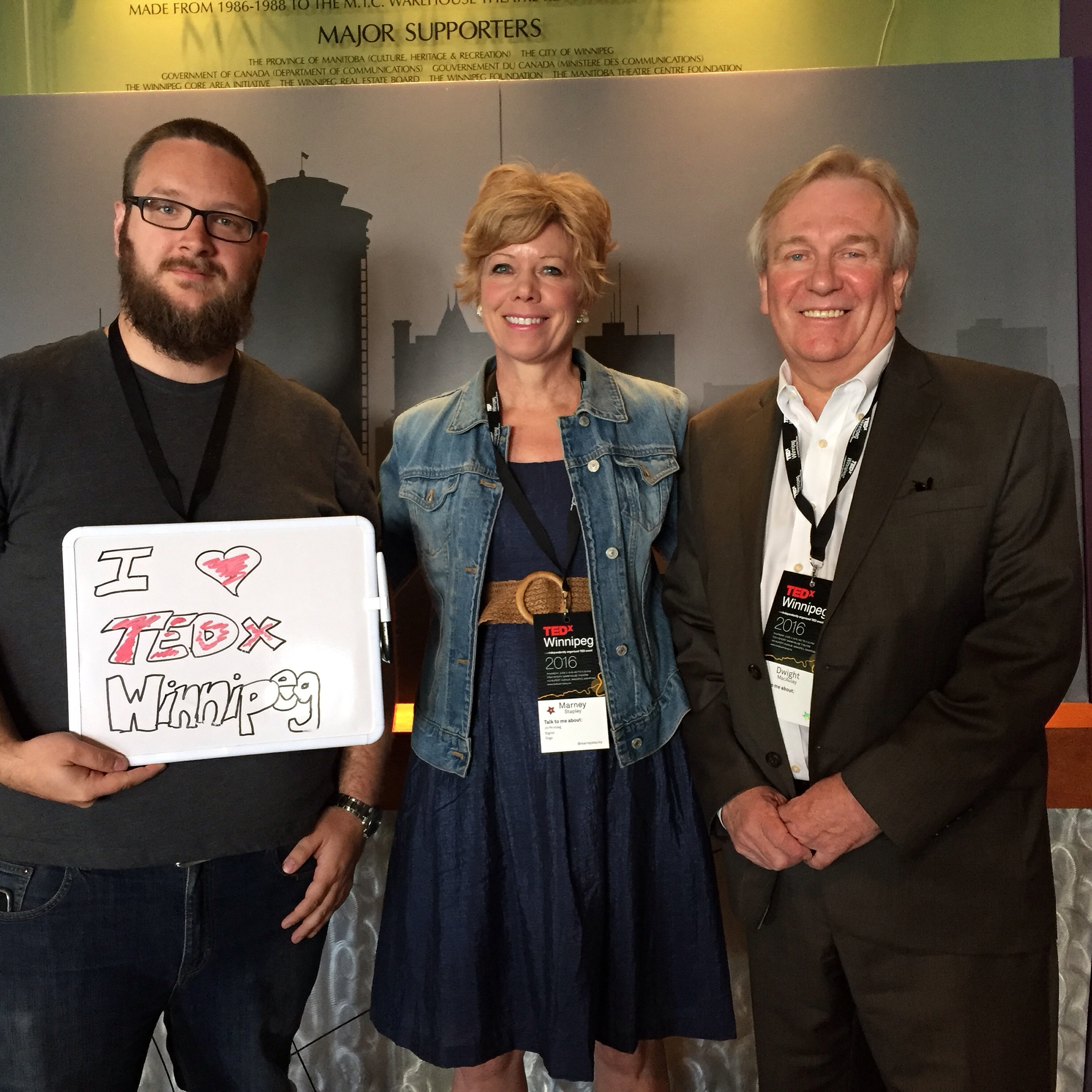 Daniel Blair, Marney Stapley & Dwight MacAuley at TEDxWinnipeg