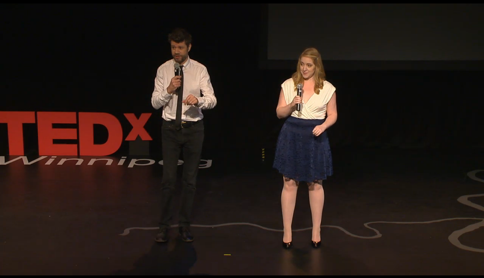 Caity Curtis and Stephen Sim TEDxWinnipeg