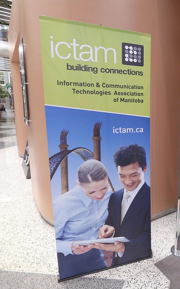 ICTAM Tech Mash Up Manitoba signage