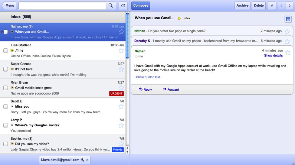 Gmail Offline app